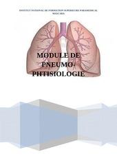 module de pneumologie  pathologie et soins