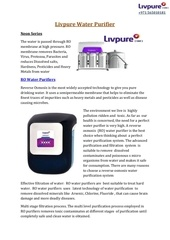 Fichier PDF livpure water purifier