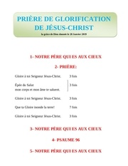 Fichier PDF prire de glorification dejesus christ by zogo el candelabro