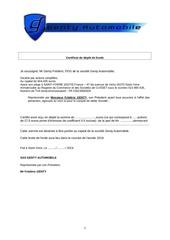 Fichier PDF certificat de depot de fonds
