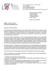2019 03 11 courrier 1er ministre preavis de greve 19 mars