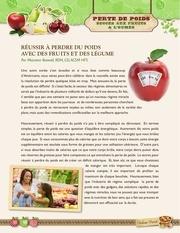 perte de poids   fruits et legumes