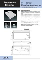 receveurs rectangulaires prima style largeur 80