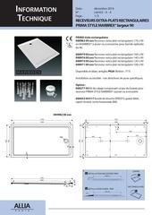 receveurs rectangulaires prima style largeur 90