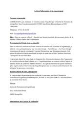 lettre dinformation et de consentement