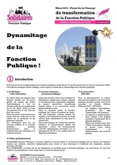 dynamitage de la fonction publique