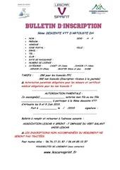 Fichier PDF bulletin inscription artouste 2019