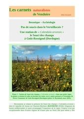 calendula arvensis gouts rossignol carnets d raymond 2019