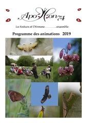 Fichier PDF programme des animations 2019