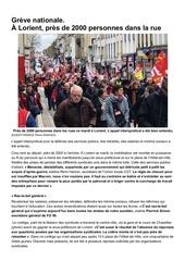 article ouest france   manif lorient 19 mars 2019