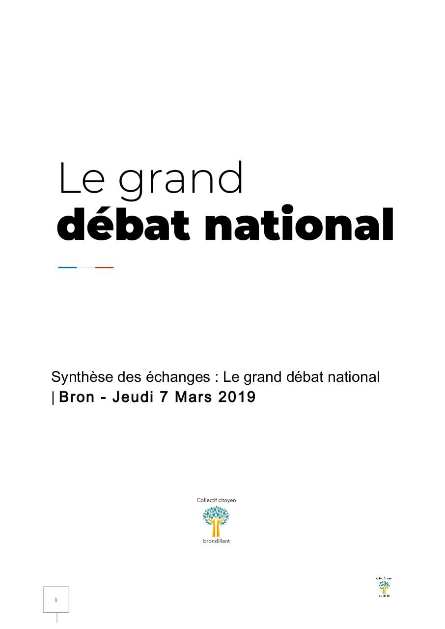 Collectif citoyen brondillant -Synthese - Grand dėbat national Bron le 7 Mars.19.pdf - page 1/10