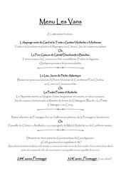menu printemps 2019
