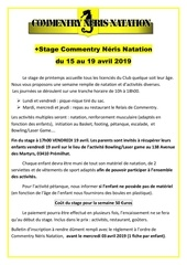 stage affiches 2018