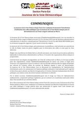 le jeunesse de la voie democratique parisest condamne