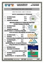 livre resume bac sm spc2019
