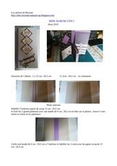 Fichier PDF mini album 2 en 1