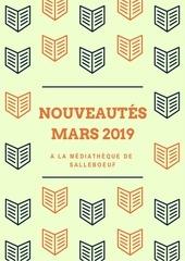 nouveautes mars 2019