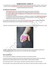 article 5 les medicaments et les protections hygieniques