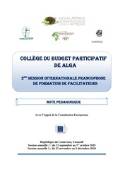 maquette  pedagogique college du bp  yaounde 19 alga revu