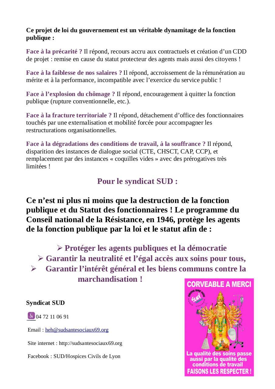 Dynamitage De La Fonction Publique Fichier Pdf