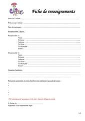 Fichier PDF dossier inscription enfant ete 2019