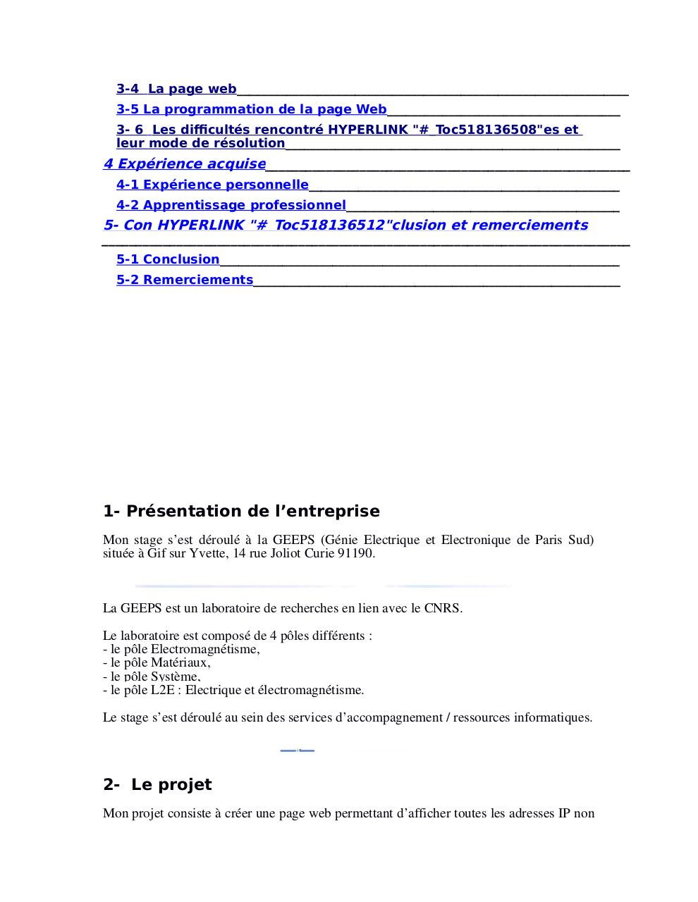 Rapport De Stagev1 Fichier Pdf