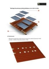 montage de panneaux sur un toit pour tuiles