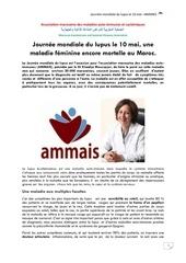 journee mondiale du lupus le 10 mai   ammais communique