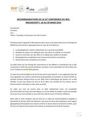 recommandations rhf