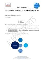 aleph experts fiche 1 assurances   pertes dexploitation
