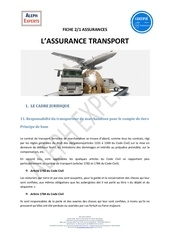 aleph experts fiche 21 assurances   assurance transport