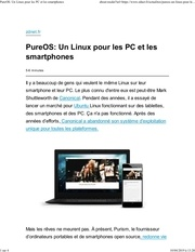 elepureos  un linux pour les pc et les smartphones