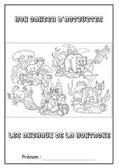page de garde cahier dactivites animaux montagne