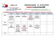 s16 programme dactivites