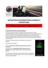 installation de recharge pour la modele 3