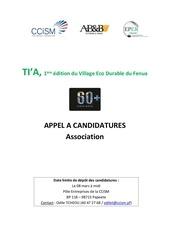 Fichier PDF appel a candidatures asso   salon tia 2019