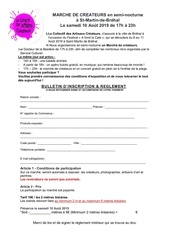 bulletin inscription reglement 1