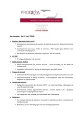progexa   veille juridique et sociale n 167   120419