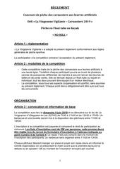 reglement concours carnassiers la vingeanne vigilante