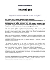 cp   luxotheque lancement du site internet