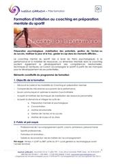 programme formation coaching prepa mentale