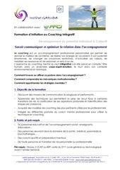 programme initiation coaching communication et relation