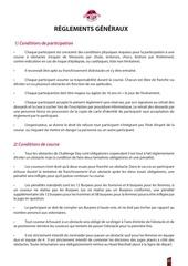 reglements generaux challenge day