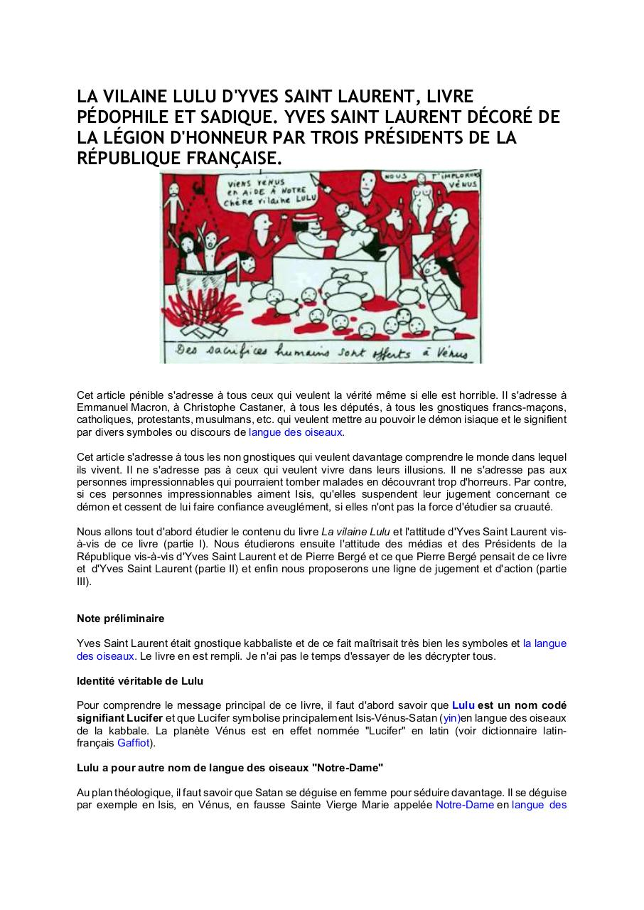 La Vilaine Lulu D Yves Saint Laurent Par User Fichier Pdf