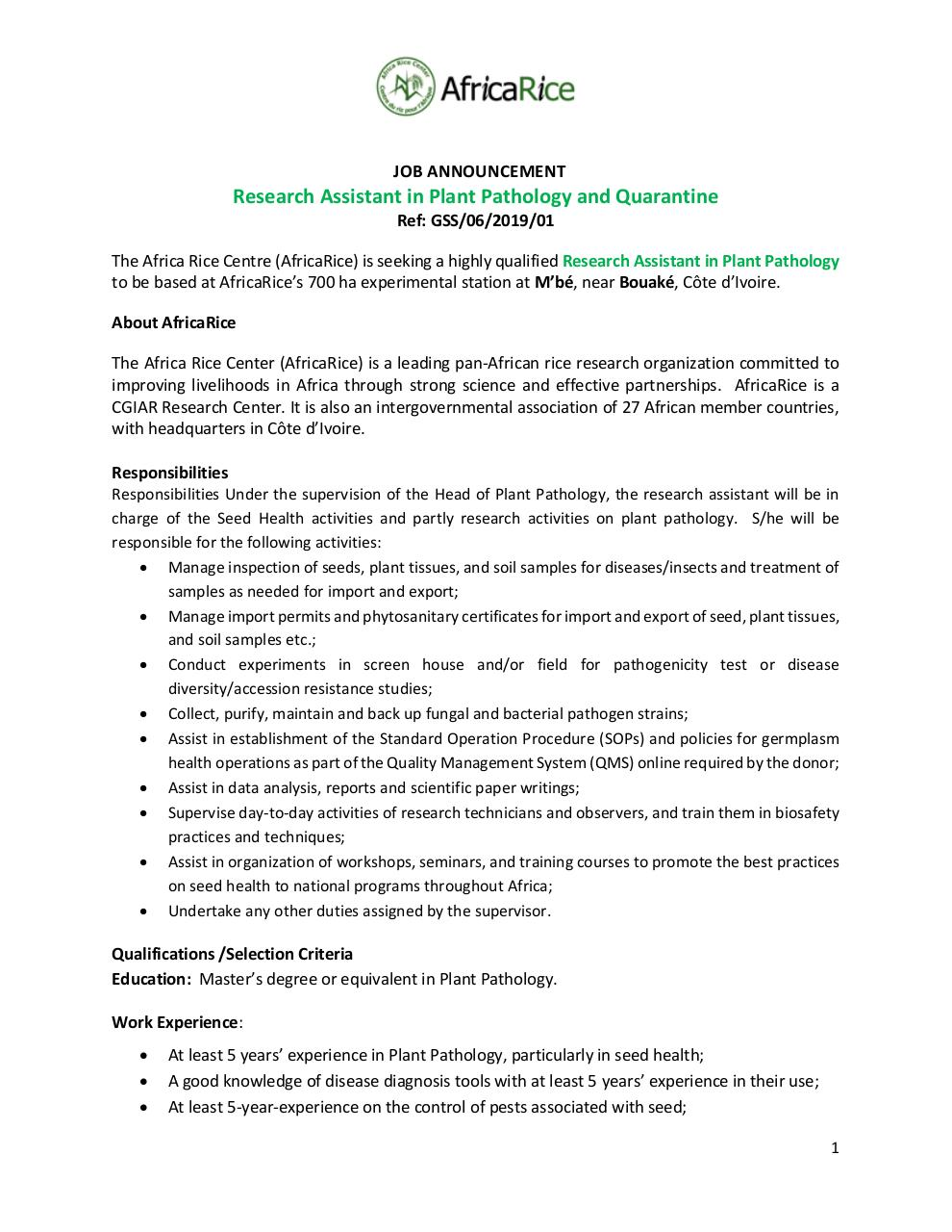 Job Announcement EN FR_ RT Plant Pathology.pdf - page 1/4