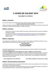 reglement course 2019 coligny