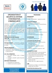 cybersecurite organisation et securite du si   aleph experts