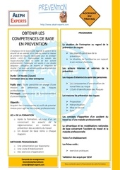 obtenir les competences de base en prevention   aleph experts