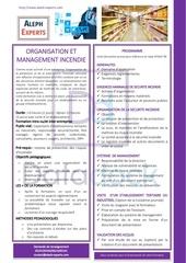organisation et management incendie   aleph experts