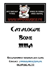 Fichier PDF catalogue club boxe